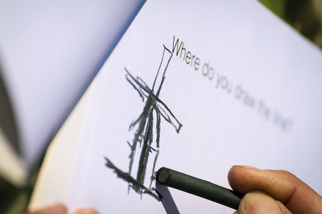 Experience take a walk outside windmill drawing