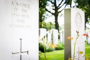 Oosterbeek Cemetry Grave of Soldier