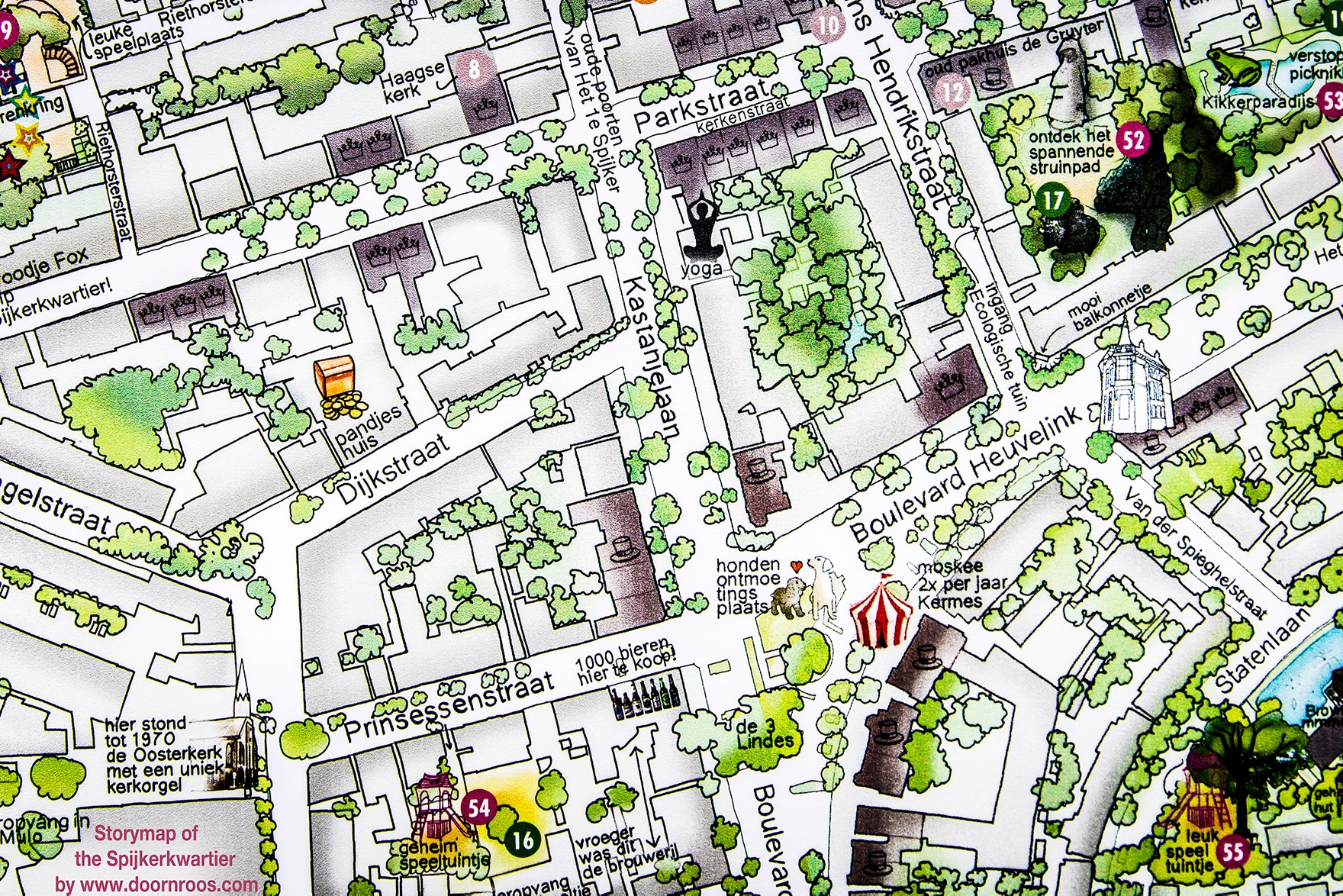 Storymap of the Spijkerkwartier by www.doornroos.com